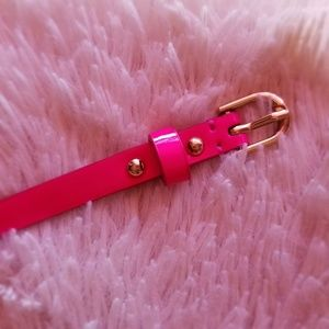 ♡ Ann Taylor Hot Pink Belt ♡